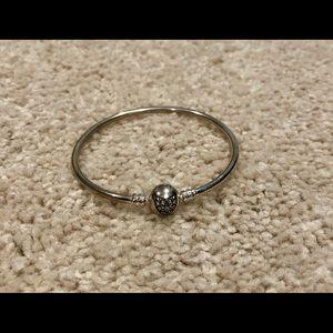 NWOT Pandora Sterling Silver Bangle Bracelet